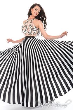 black white colored dresses by precious formals